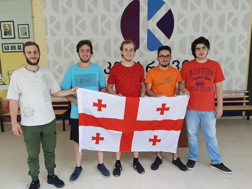 Georgian national team successfully competed in the 4th European Physics Olympiad