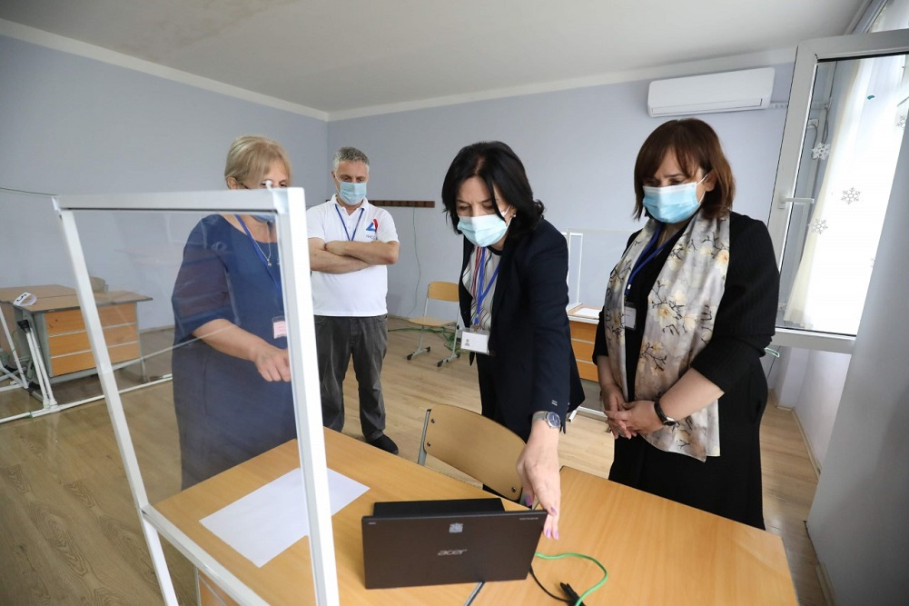 Nunu Mitskevichi got acquainted with the process of the Common Master's exams at the Batumi Examination Center