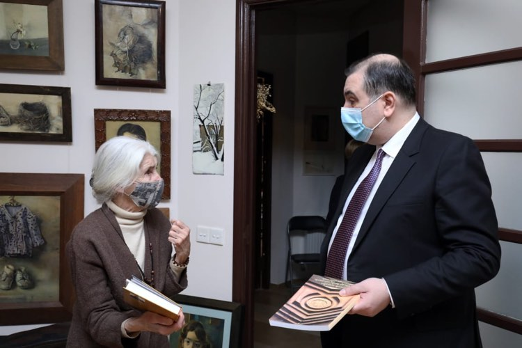 Mikheil Chkhenkeli congratulated famous Georgian linguist Damana Melikishvili on the Mother Language Day
